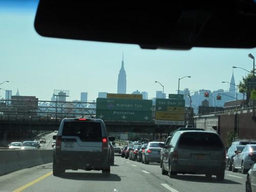 In de limo op weg naar Manhattan