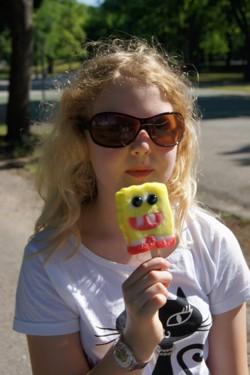 Even een ijsje eten...