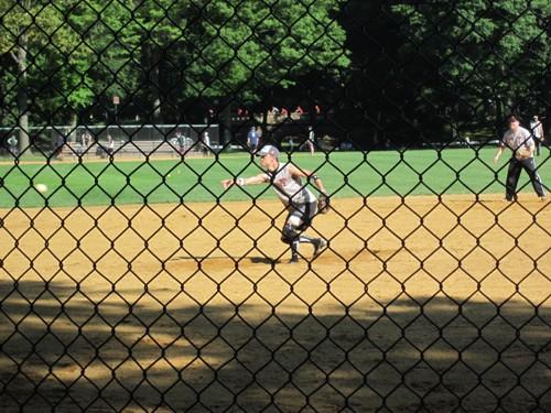 Softbalwedstrijd in Central Park