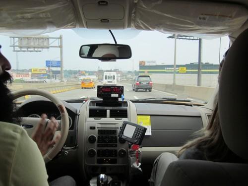 Taxiritje richting JFK