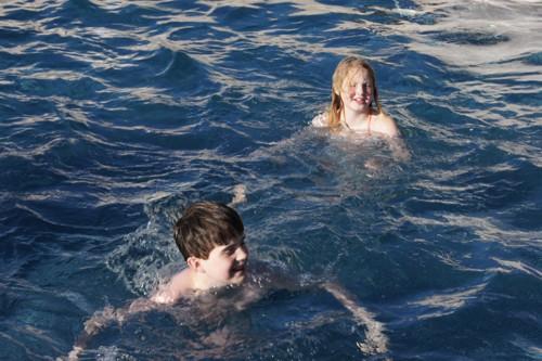 Het eerste zwembad