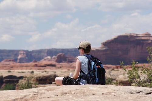 Even uitrusten, genietend van het uitzicht
