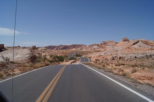 De weg door de Valley of Fire
