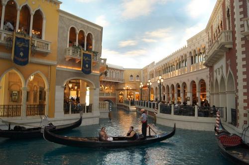 Een van de gondels in het Venetian