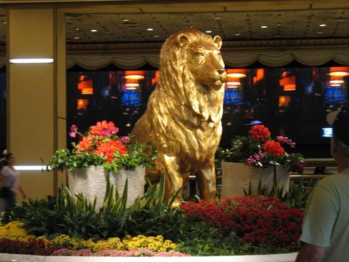 De MGM leeuw in het MGM Grand