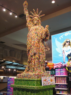 Jelly bean Statue of Liberty