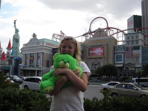 Ilse haalde een mooie groene beer van haar gewonnen punten
