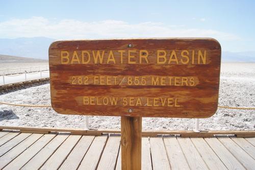 Badwater, 85.5 meter onder zeeniveau