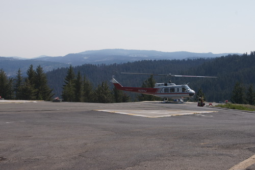 Helikopter bij Crane Flat Fire Lookout