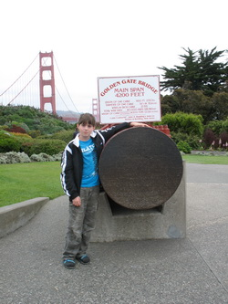 Doorsnede van een kabel van de Golden Gate Bridge