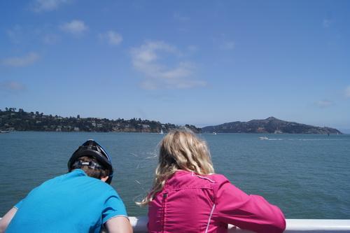 Met de boot terug vanuit Sausalito