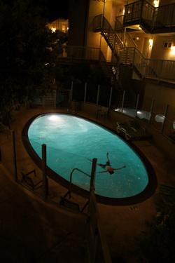 Zwembad bij hotel in Carlsbad